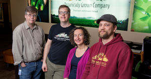 three men and a woman, the team at Organically Grown Company