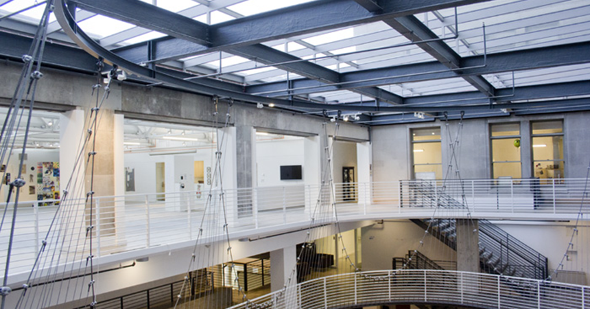 interior view of energy efficient building at Pacific Northwest College