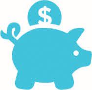 aqua piggy bank icon