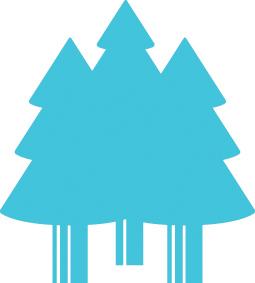 aqua tree graphic