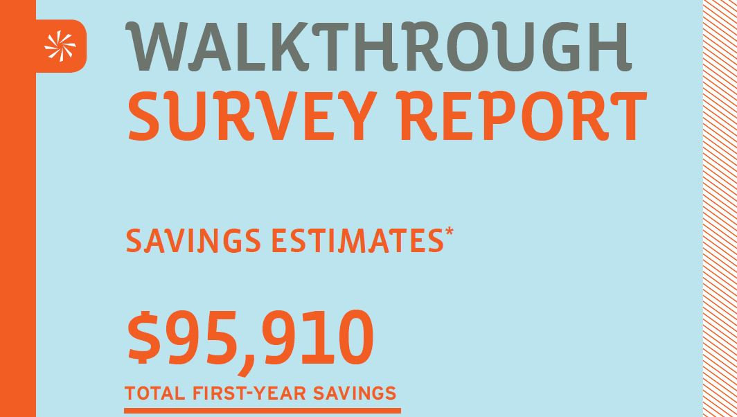 Walkthrough survey report graphic