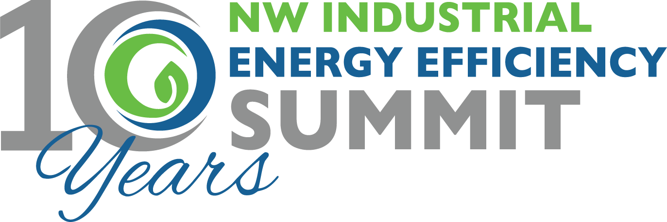 Energy Efficiency Anniversary Logo with old blue