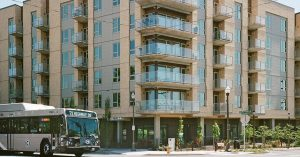 Uptown Apartments, located in downtown Vancouver, is accessible by public transit, at the corner of W. McLoughlin Blvd. and Washington St.