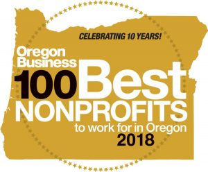 Oregon Business 100 best nonprofits to work for in Oregon logo