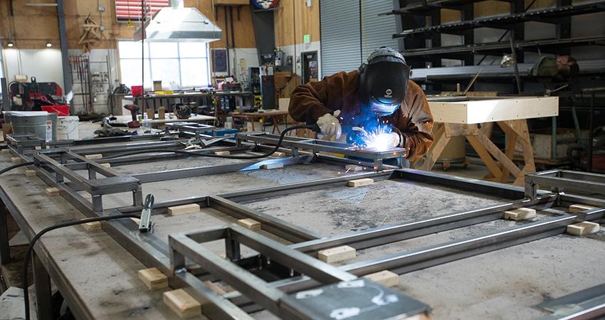 The Oregon Shakespeare Festival a man welding