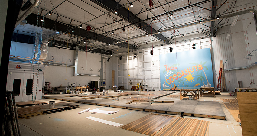The Oregon Shakespeare Festival. 2014. Paint Shop in the new production building.