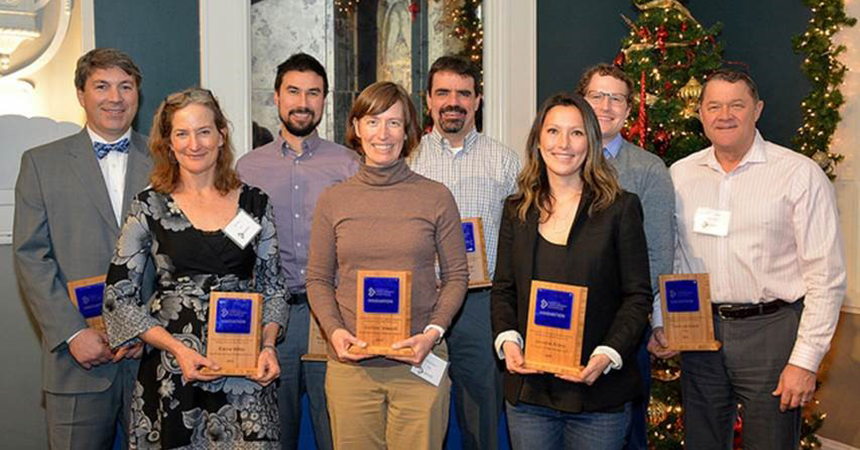 a group of award recipients for NEEA leadership