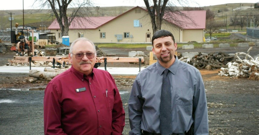 Mike Cleveland, physical plant manager and Tyler Phelps, assistant physical plant manager, are part of EOCI's energy team for Strategic Energy Management.