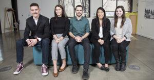 The 2019 intern class includes Matt Loudermilk, Carleton Hart Architecture; Madelaine Murray, Hennebery Eddy; Lindsay Naganuma, Holst Architecture; Austin Daich, Speranza Architecture, and Jessica Meylor, OTAK