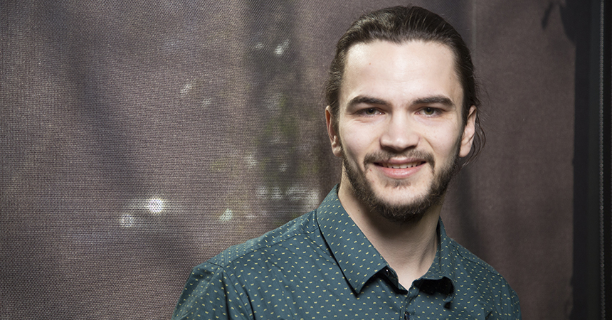 matt laudermilk: a young man smiling at the camera