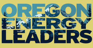 Graphic showing the text Oregon Energy Leaders.