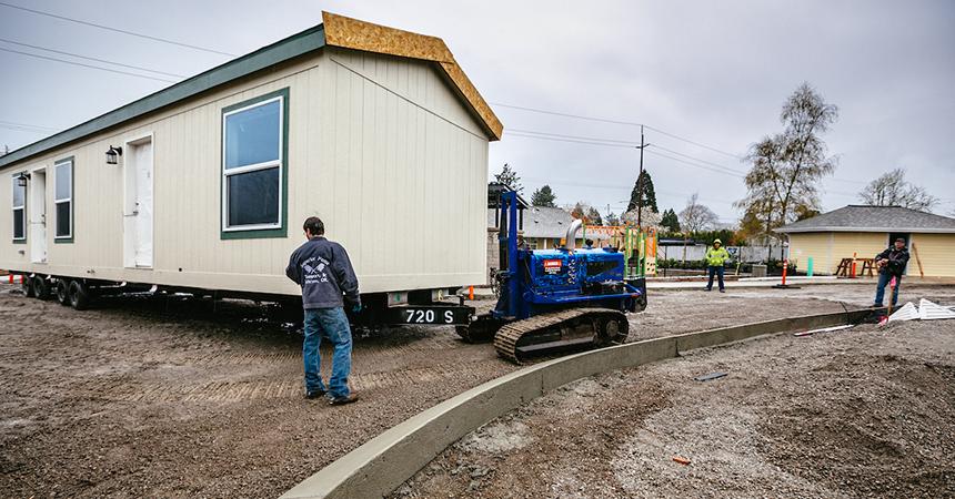 Oak Leaf Park home delivery April 5 2019, for Energy Trust of Oregon.