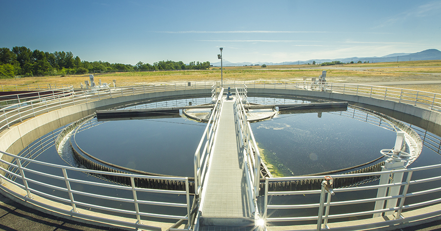 a waste water treatment facility