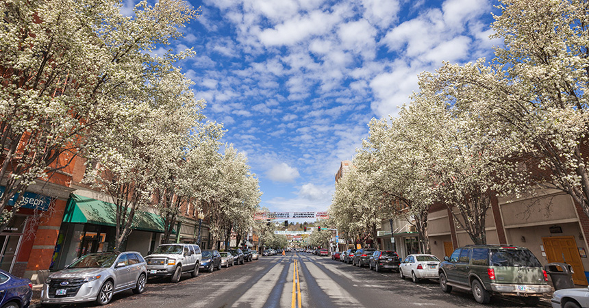 downtown pendleton on a sunny day