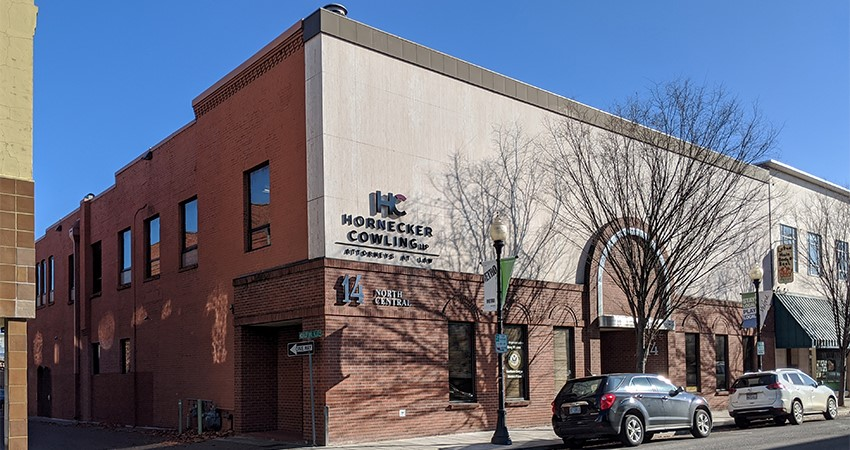 The Hornecker building seen from the outside