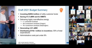 What do you think of Energy Trust's draft 2021 budget?