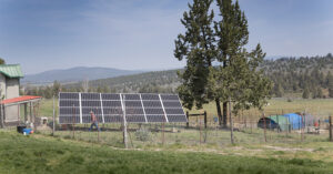 a solar panel installation on a rural property