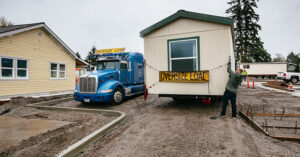 Manufactured home with installer
